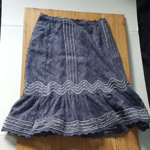 Dresses & Skirts - Periwinkle Lace Detailed Skirt